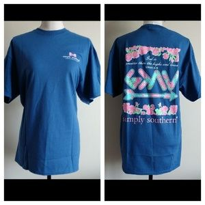 NEW🌺 SIMPLY SOUTHERN TEE SIZE L.